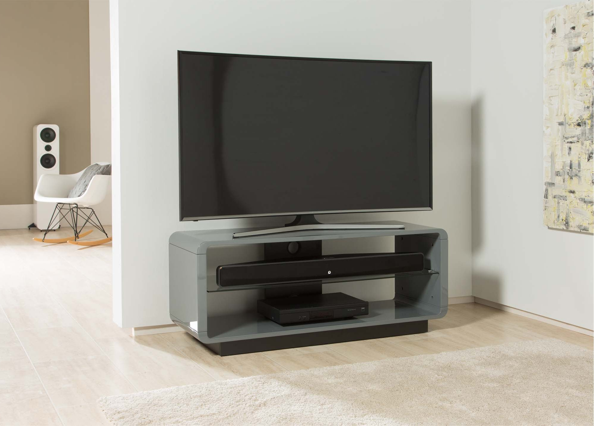 Alphason Adlu1200 Gry Tv Stands Pertaining To Trendy Walton Grey 60 Inch Tv Stands (View 2 of 20)