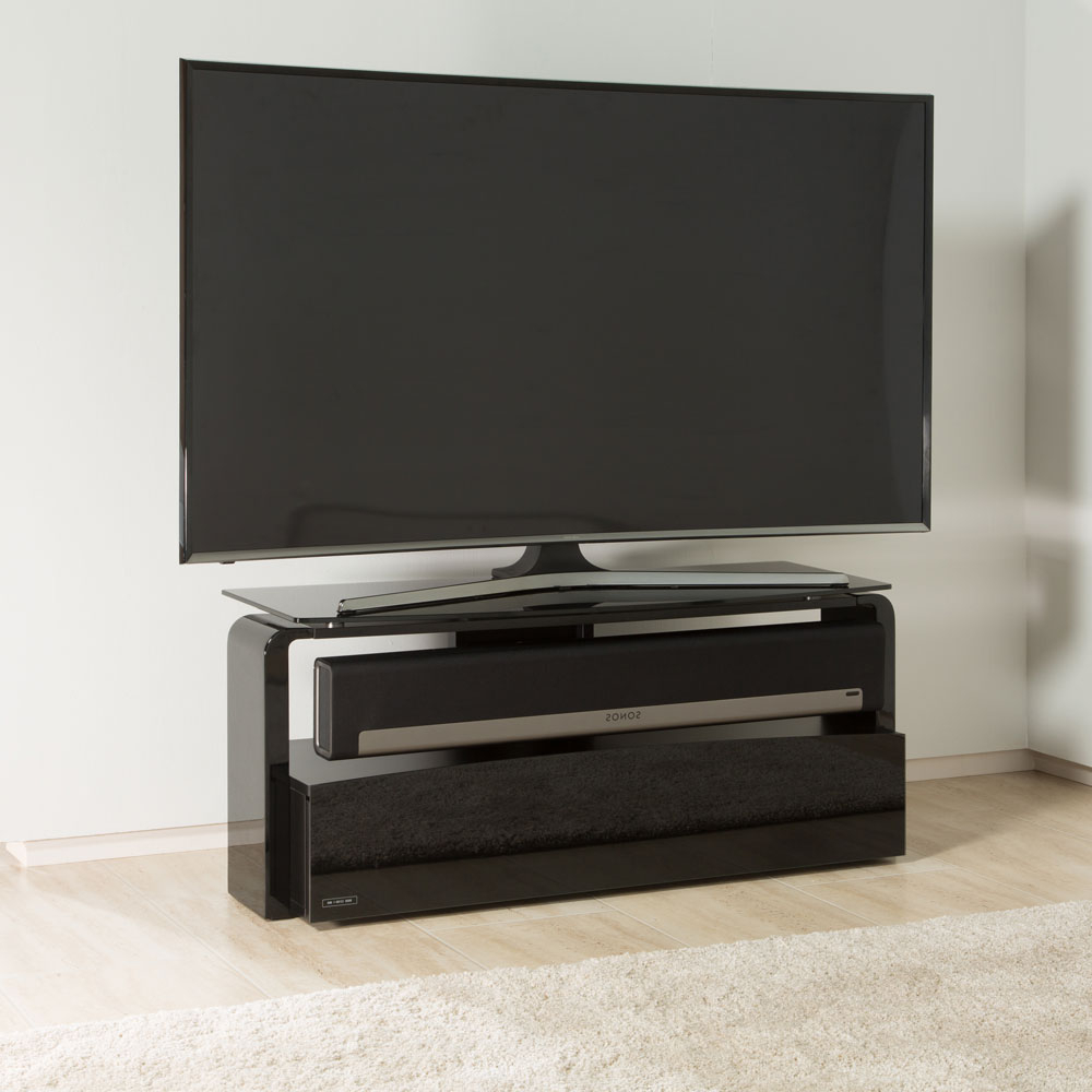 Alphason As9001 Black Sonos Playbar Tv Stand – Alphason Within Well Known Alphason Tv Cabinets (View 4 of 20)