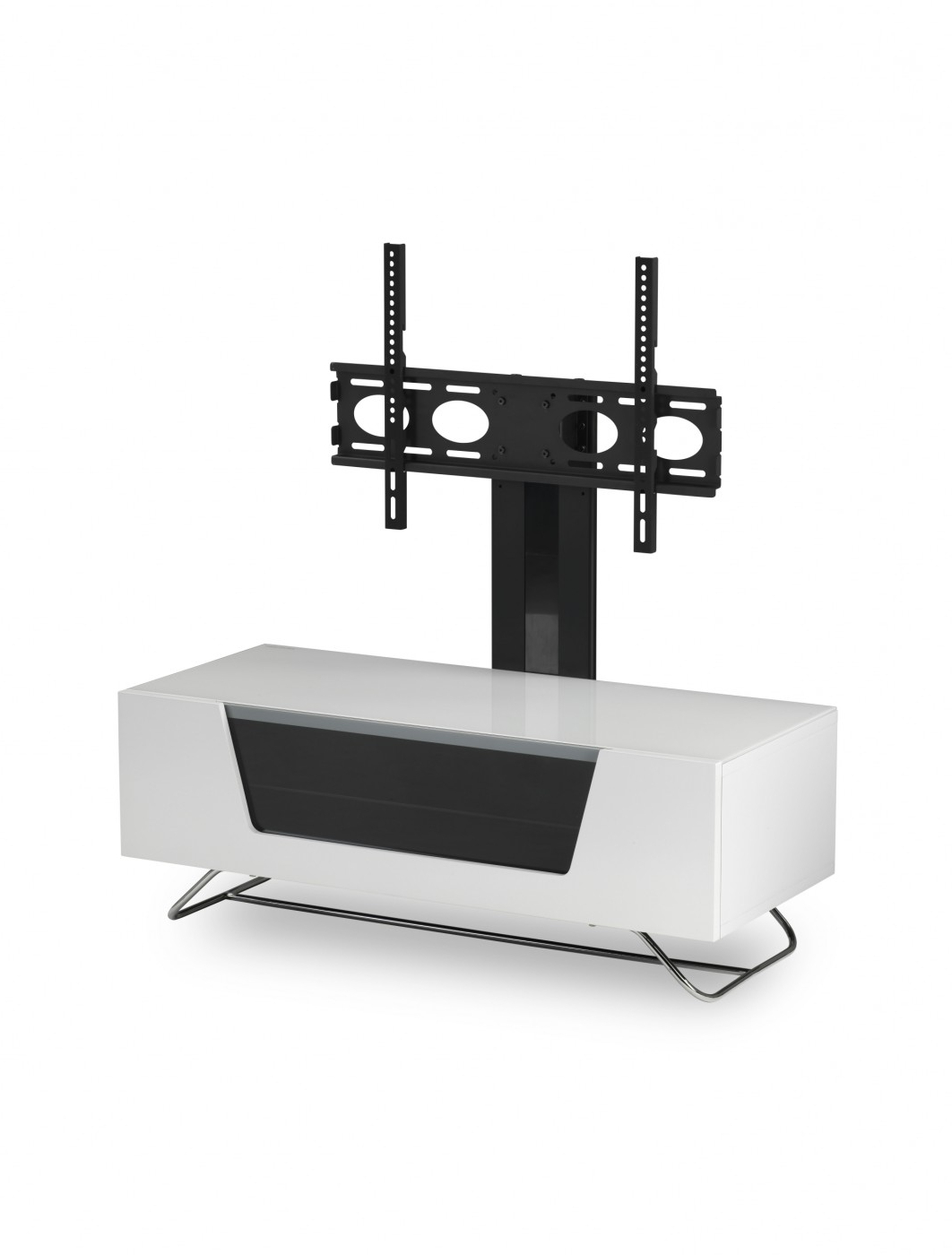 Alphason Chromium Cantilever Tv Stand Cro2 1200bkt Wh (View 18 of 20)