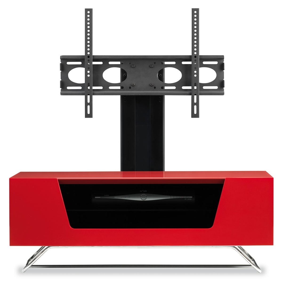 Alphason Chromium Red Cantilever Tv Stand Pertaining To Well Liked Red Tv Stands (View 5 of 20)
