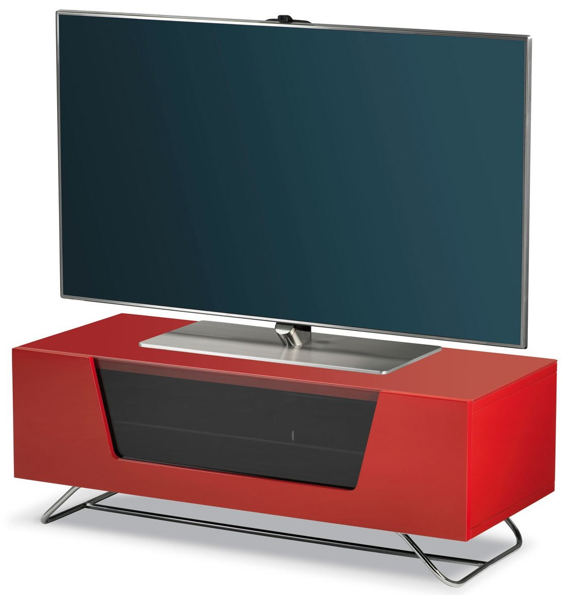 "Alphason Chromium Red Tv Stand For Up To 50"" Tvs Regarding Most Recent Red Tv Stands (View 6 of 20)"