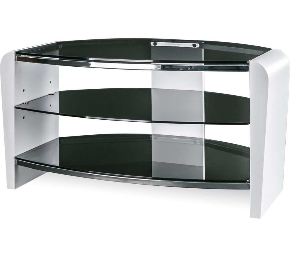 Alphason Francium 800 Tv Stand – White & Smoked Glass Deals (View 2 of 20)