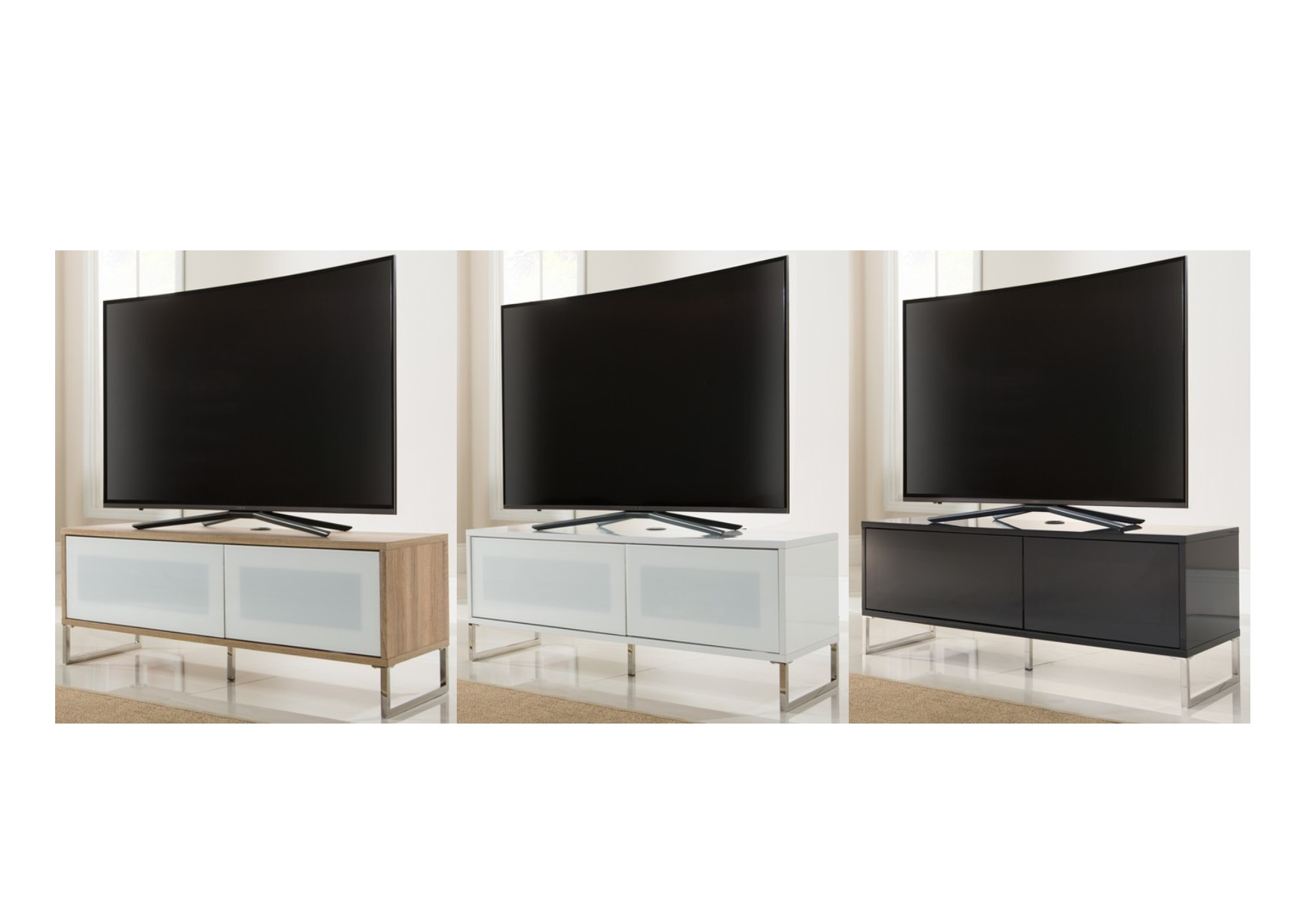 Alphason Tv Cabinets Intended For Preferred Alphason Helium Floor Or Wall Mounted Tv Cabinet Stand – Black White (View 9 of 20)
