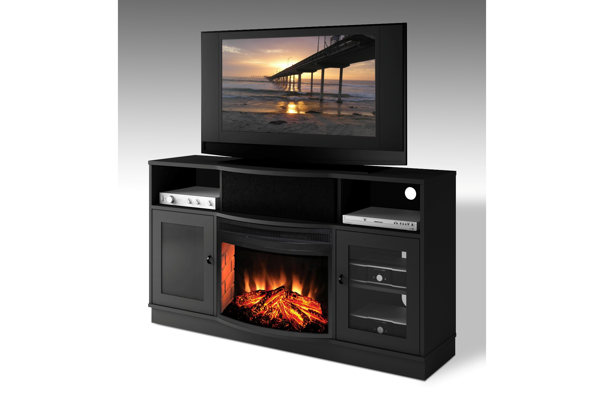 Amazing Electric Fireplace Tv Stand — Luxury Life Farm For Most Recent Bjs Tv Stands (View 1 of 20)