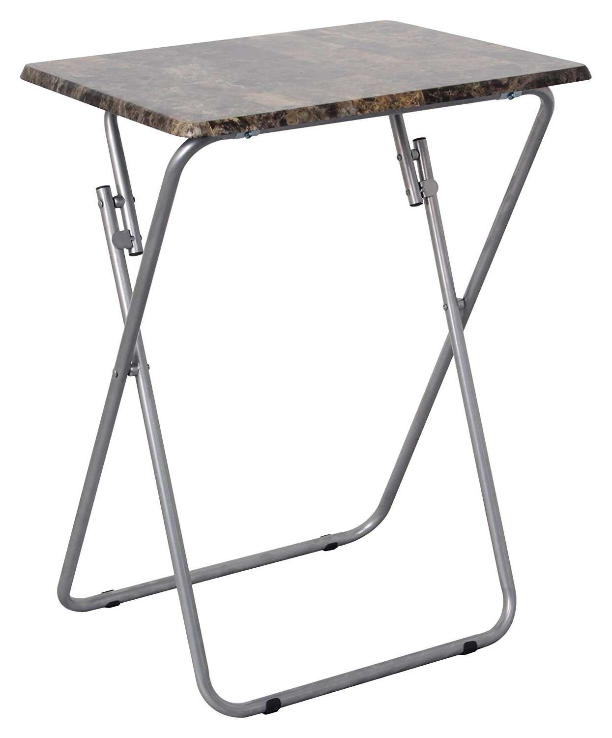 Amazon: Above Edge Folding Tv & Snack Tray Table, Marble: Garden Within Current Folding Tv Trays With Stand (View 4 of 20)