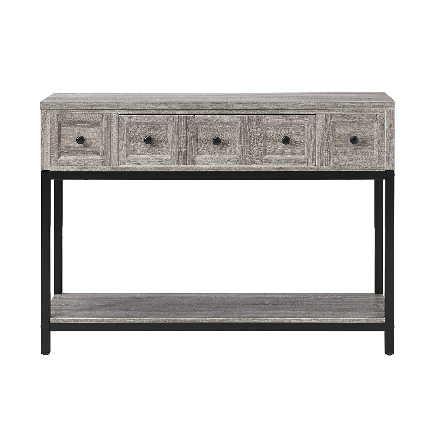 Amazon: Altra Furniture Console Table In Sonoma Oak Finish In Most Current Parsons Grey Solid Surface Top & Dark Steel Base 48x16 Console Tables (View 5 of 20)