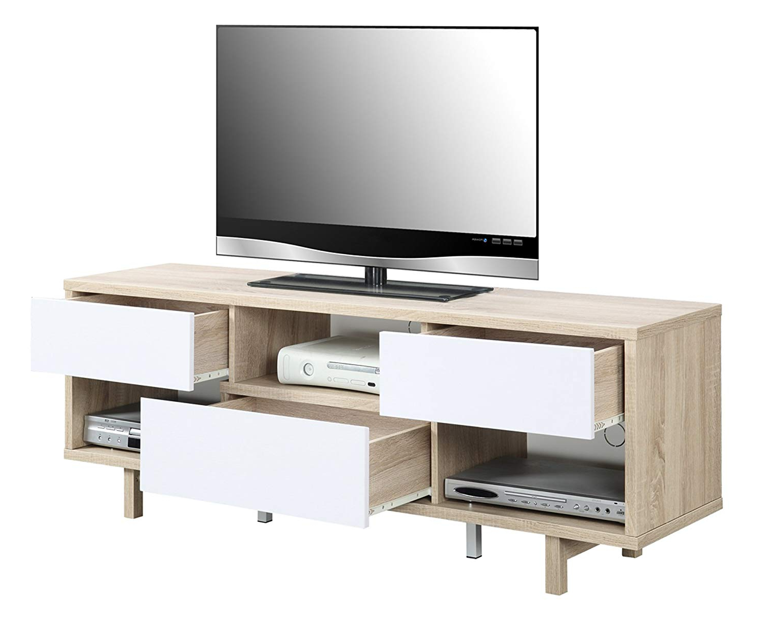 Amazon: Convenience Concepts Designs2go Newport Ventura 60 Inch Regarding 2018 Preston 66 Inch Tv Stands (View 6 of 20)