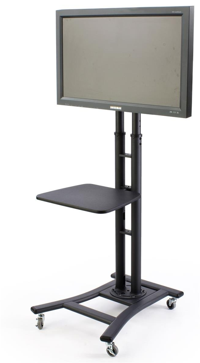 "Amazon: Displays2go, Mobile Tv Stand For 37"" To 70"" Lcd Monitor In Fashionable Preston 66 Inch Tv Stands (View 17 of 20)"