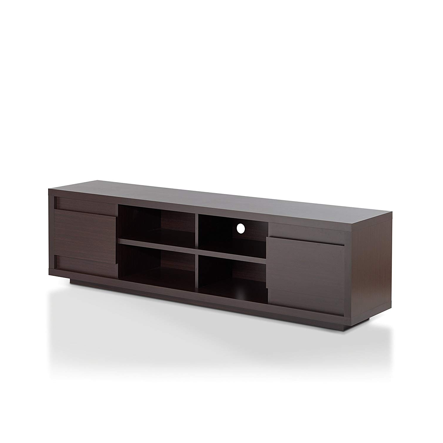 Amazon: Iohomes Kirry Multi Storage Tv Stand, Walnut: Kitchen Regarding Best And Newest Walton 74 Inch Open Tv Stands (Gallery 14 of 20)