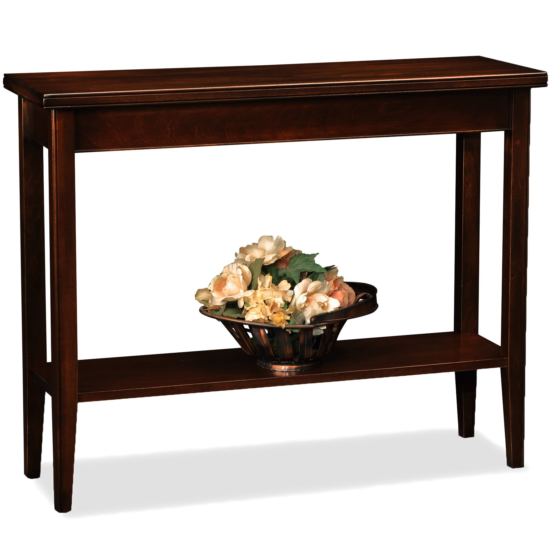 Amazon: Leick Laurent Hall Console Table: Kitchen & Dining Within Current Layered Wood Small Square Console Tables (View 3 of 20)