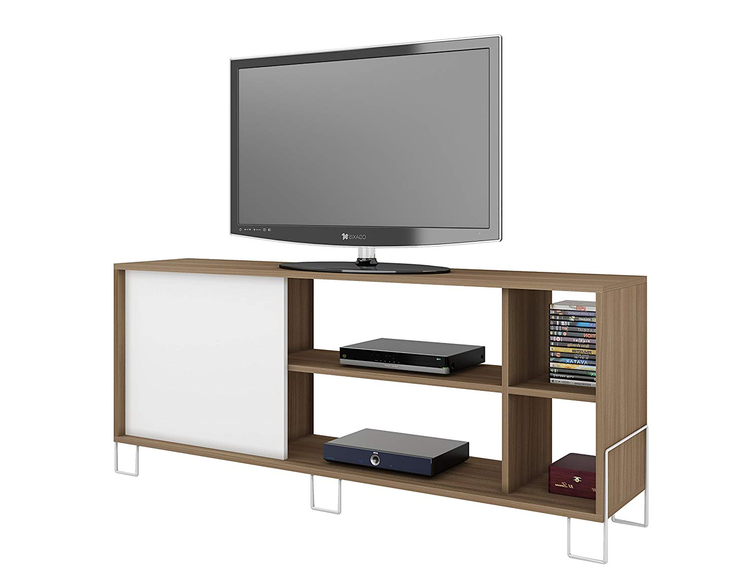 Amazon: Manhattan Comfort Nacka Tv Stand 2.0 Collection Modern Intended For Most Recently Released Yellow Tv Stands (Gallery 20 of 20)