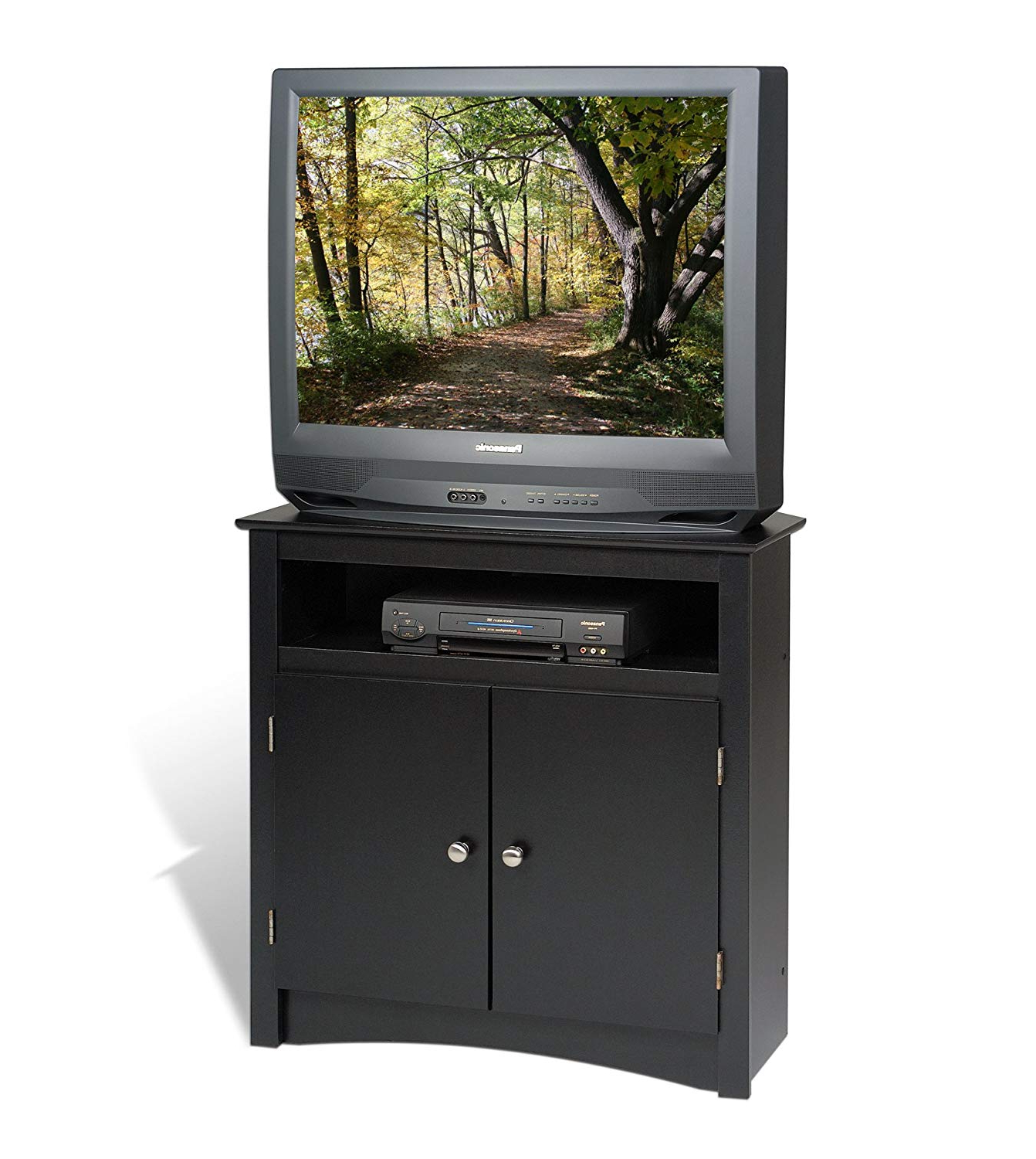 Amazon: Prepac Sonoma Corner Tv Cabinet, Black: Kitchen & Dining With Famous Black Corner Tv Cabinets (View 3 of 20)