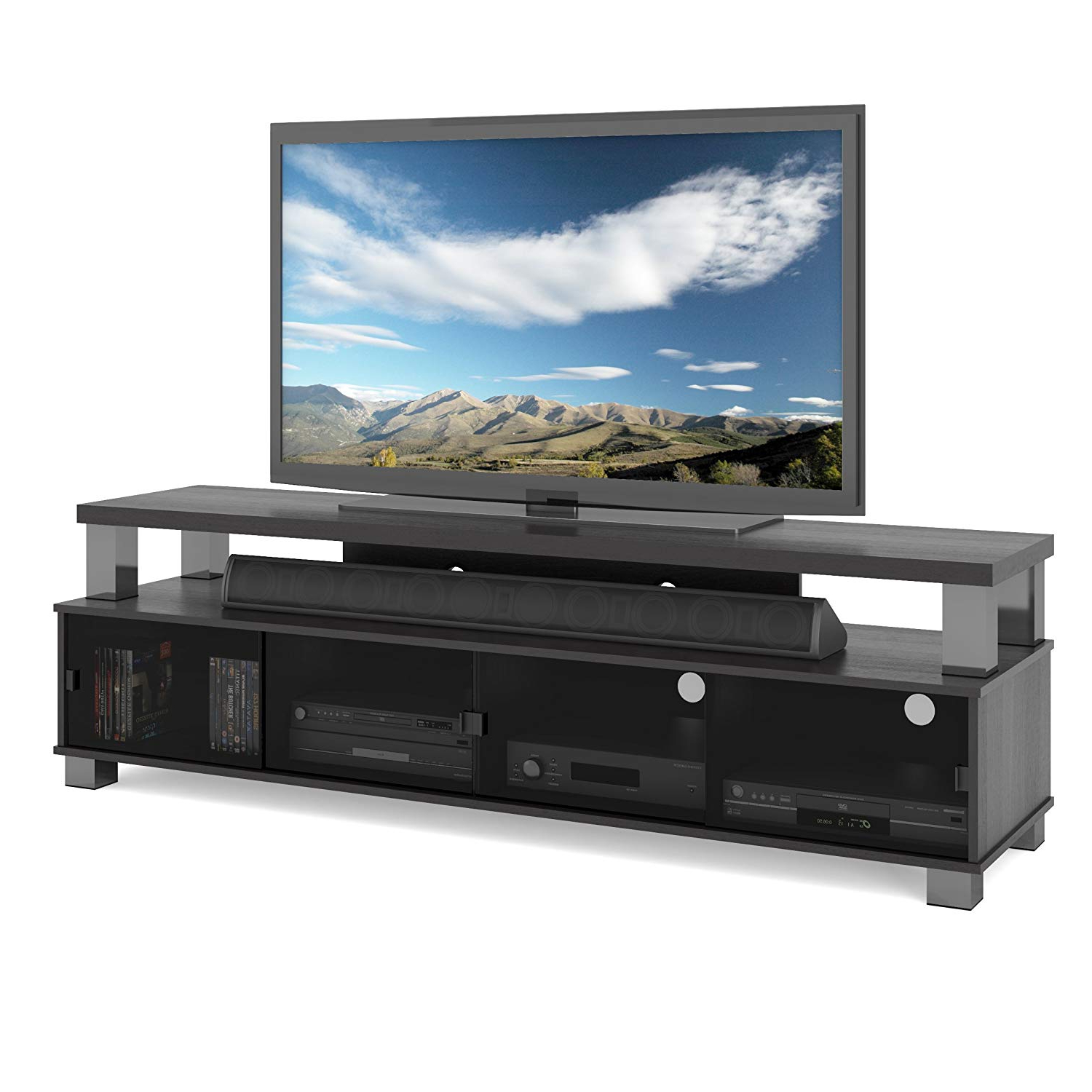 Amazon: Sonax B 003 Rbt Bromley Tv Stand, Ravenwood Black With Regard To Well Liked Sonax Tv Stands (View 14 of 20)