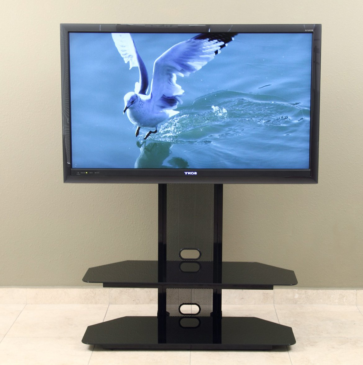 Amazon: Transdeco Tv Stand With Universal Mounting System For 35 With Regard To 2017 Vista 60 Inch Tv Stands (View 7 of 20)
