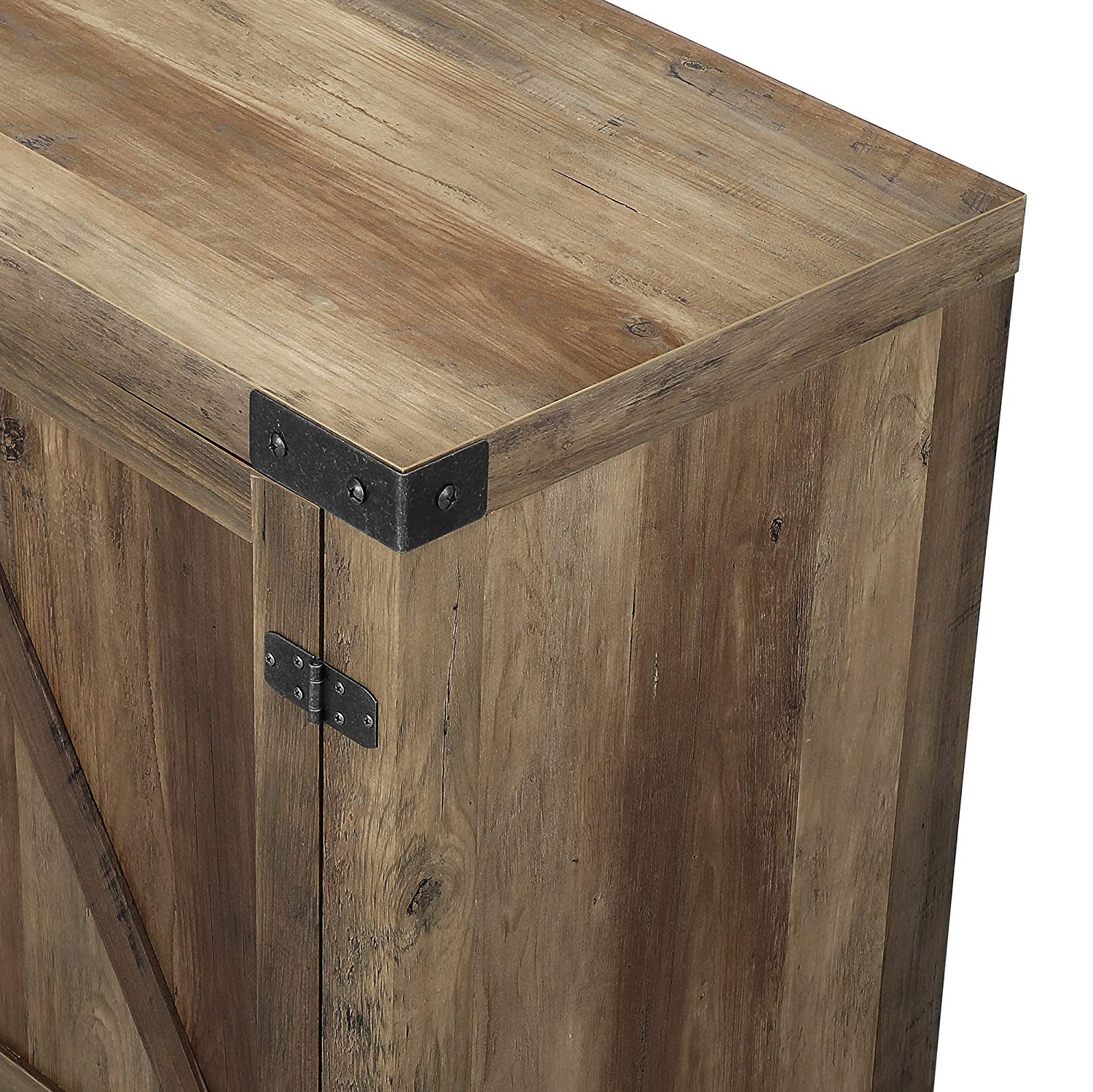 Amazon: We Furniture Az58Fpbdro Tv Stand, Rustic Oak: Kitchen For Most Recently Released Kilian Grey 49 Inch Tv Stands (View 3 of 20)