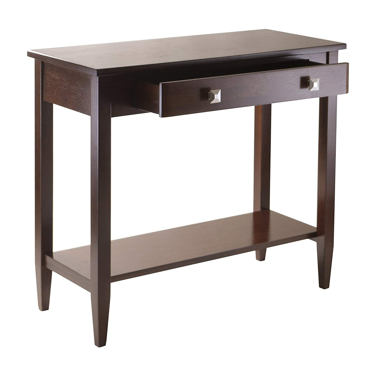 Amazon: Winsome Richmond Console Hall Table With Tapered Leg In Latest Layered Wood Small Square Console Tables (View 4 of 20)