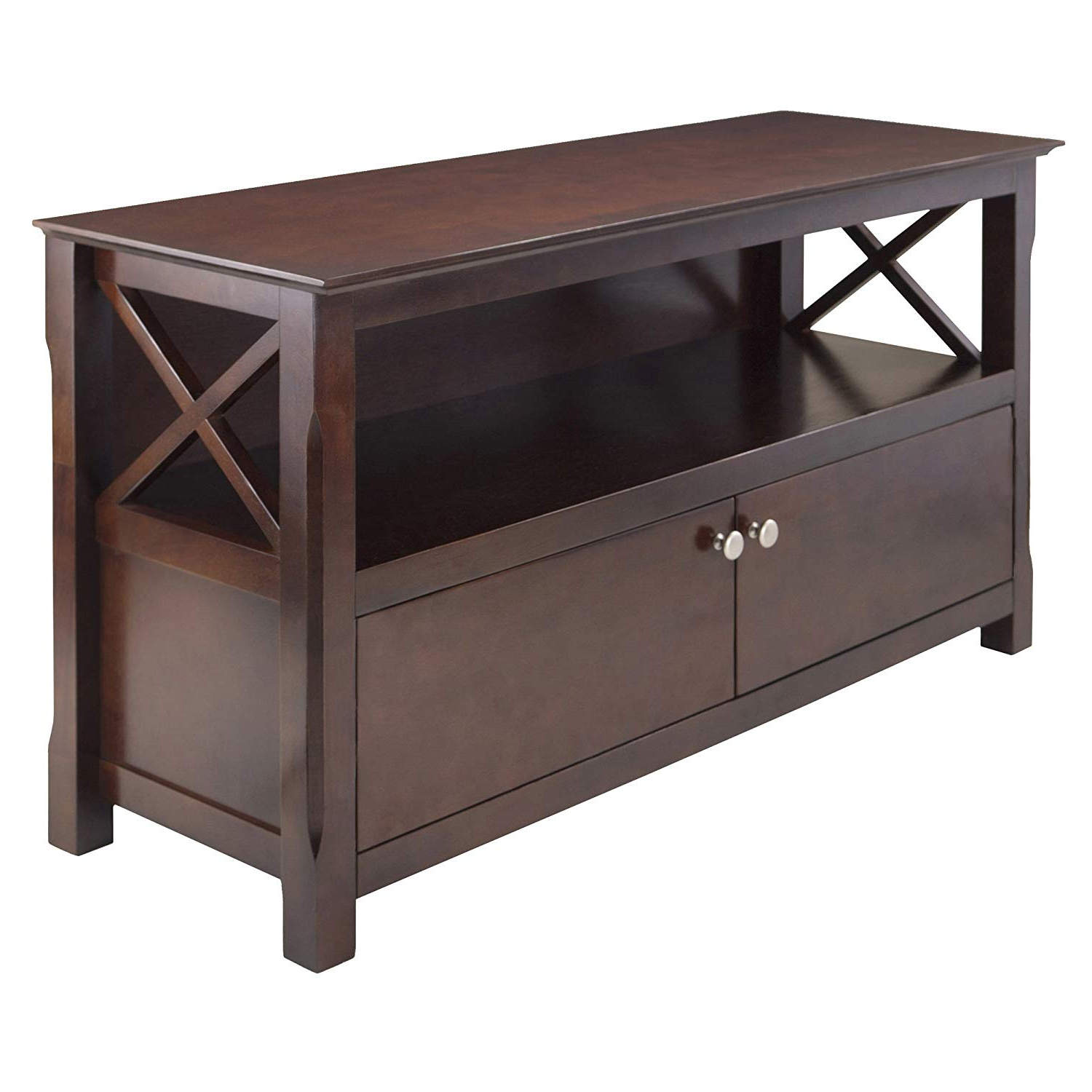 Amazon: Winsome Wood Xola Tv Stand: Kitchen & Dining Throughout Most Current Wooden Tv Stands With Doors (View 2 of 20)