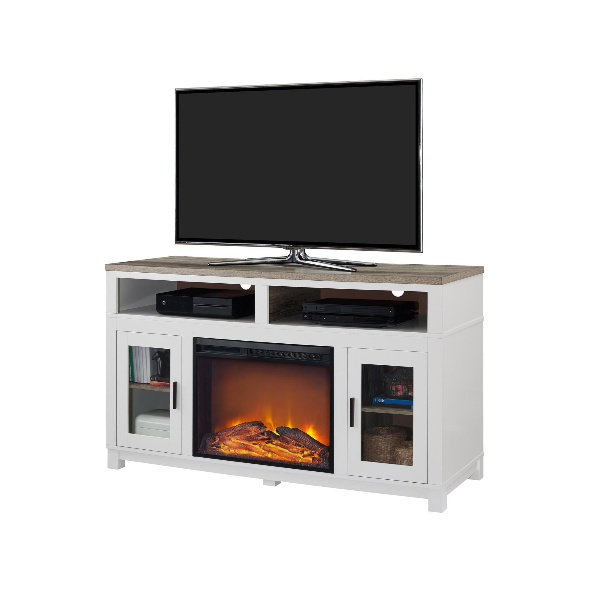 Ameriwood Home Carver Electric Fireplace Tv Stand For Tvs Up To 60 Inside Popular Oxford 60 Inch Tv Stands (Gallery 18 of 20)