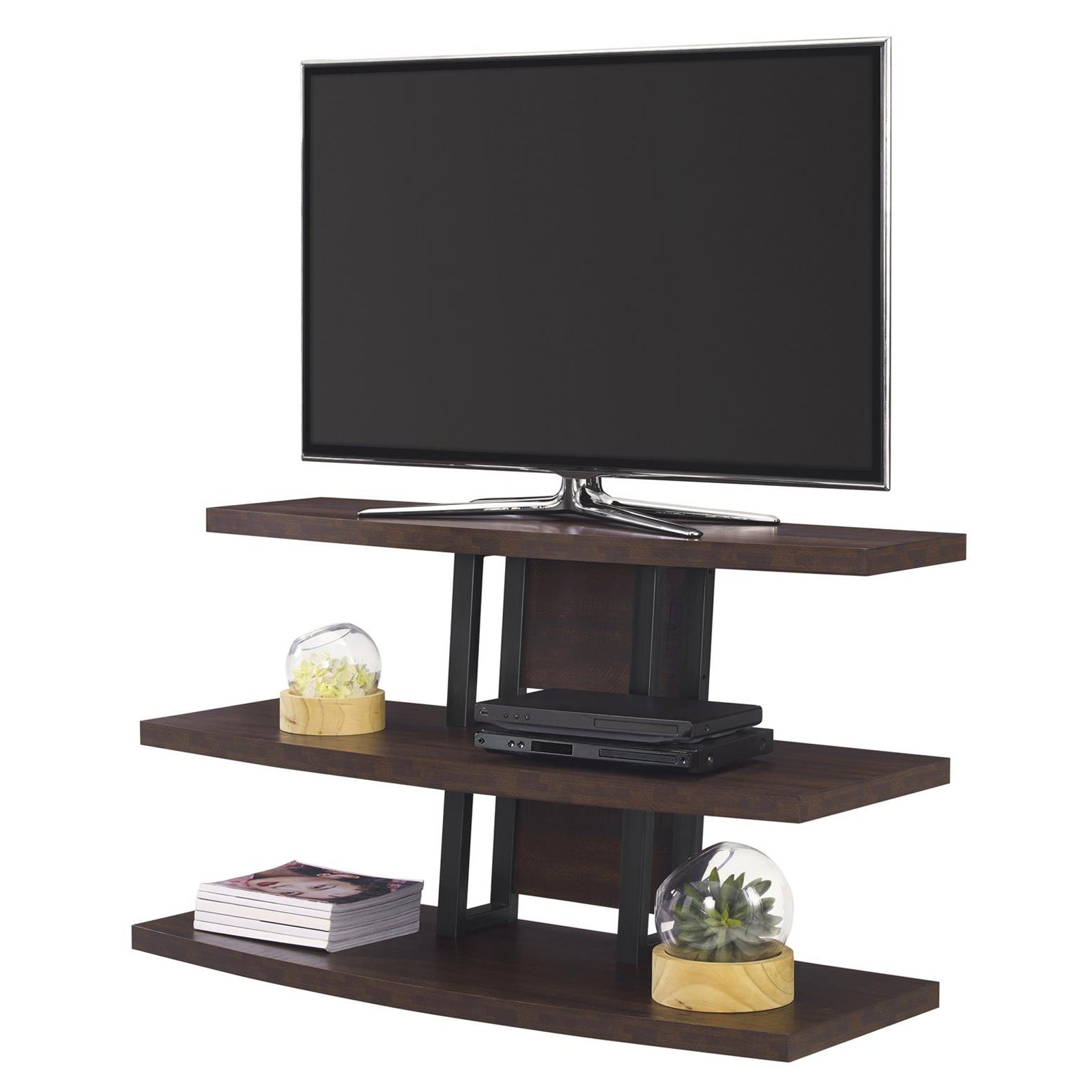 "Ameriwood Home Castling Tv Stand For Tvs Up To 55"", Espresso In Favorite Forma 65 Inch Tv Stands (View 13 of 20)"