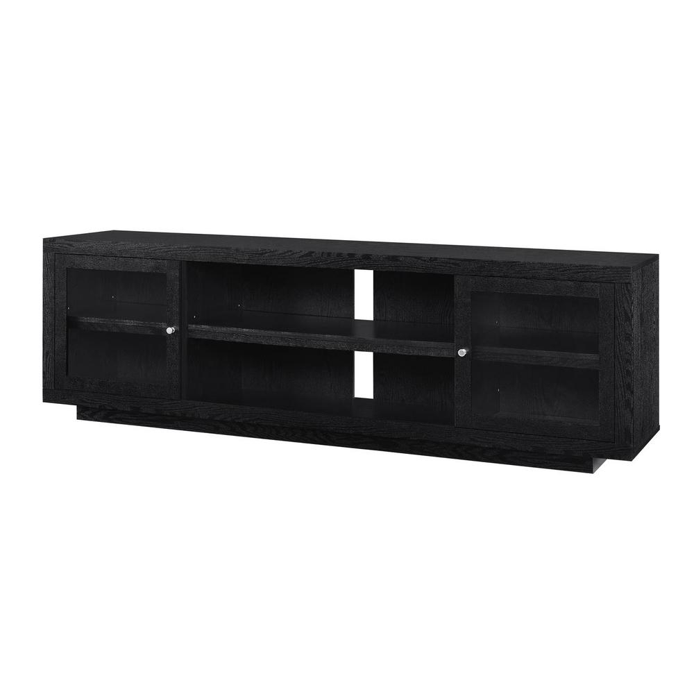 Ameriwood Young Lane 72 In. Black Oak Tv Stand Hd40618 – The Home Depot In Well Known Low Oak Tv Stands (Gallery 19 of 20)