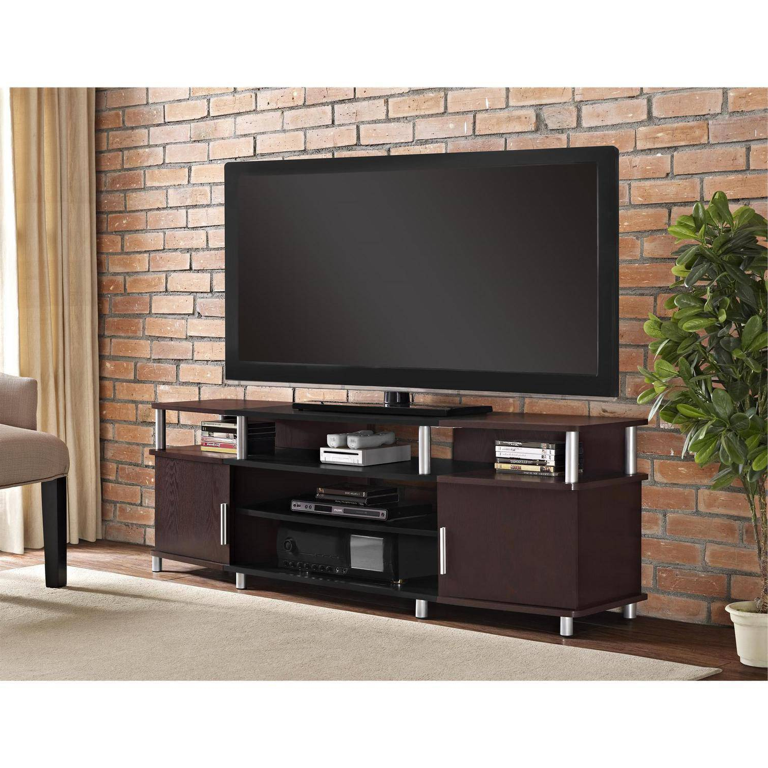 Annabelle Black 70 Inch Tv Stands With Regard To Well Liked Furniture: Ameriwood Home Carson Tv Stand For Tvs Up To 70 Inch Tv Stand (View 3 of 20)