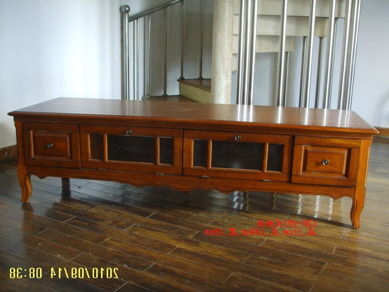 Antique Style Tv Stands Intended For Current Antique Solid Wooden Tv Stand (Cdg 002) Shop For Sale In China (View 4 of 20)