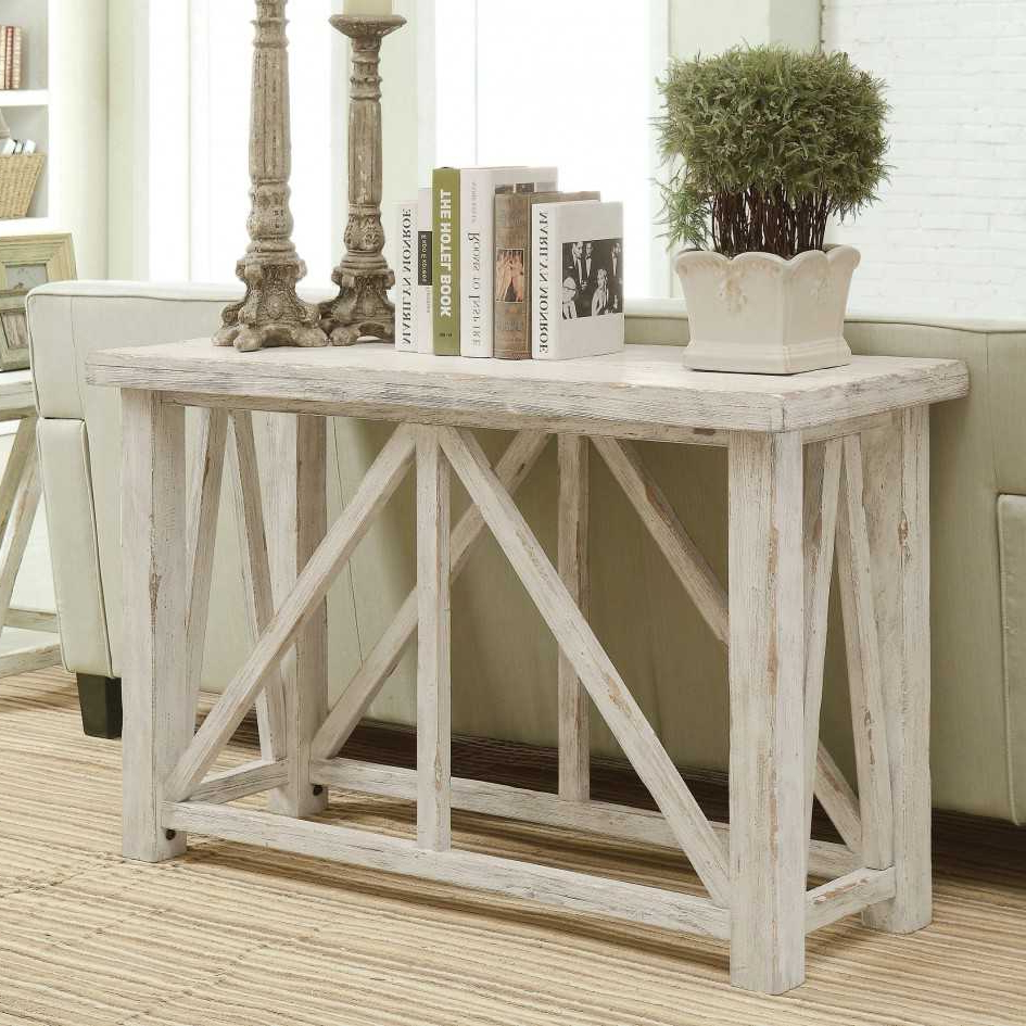 Antique White Distressed Console Tables Regarding Most Current Distressed Console Table White : Console Table – Classic Yet Elegant (View 3 of 20)