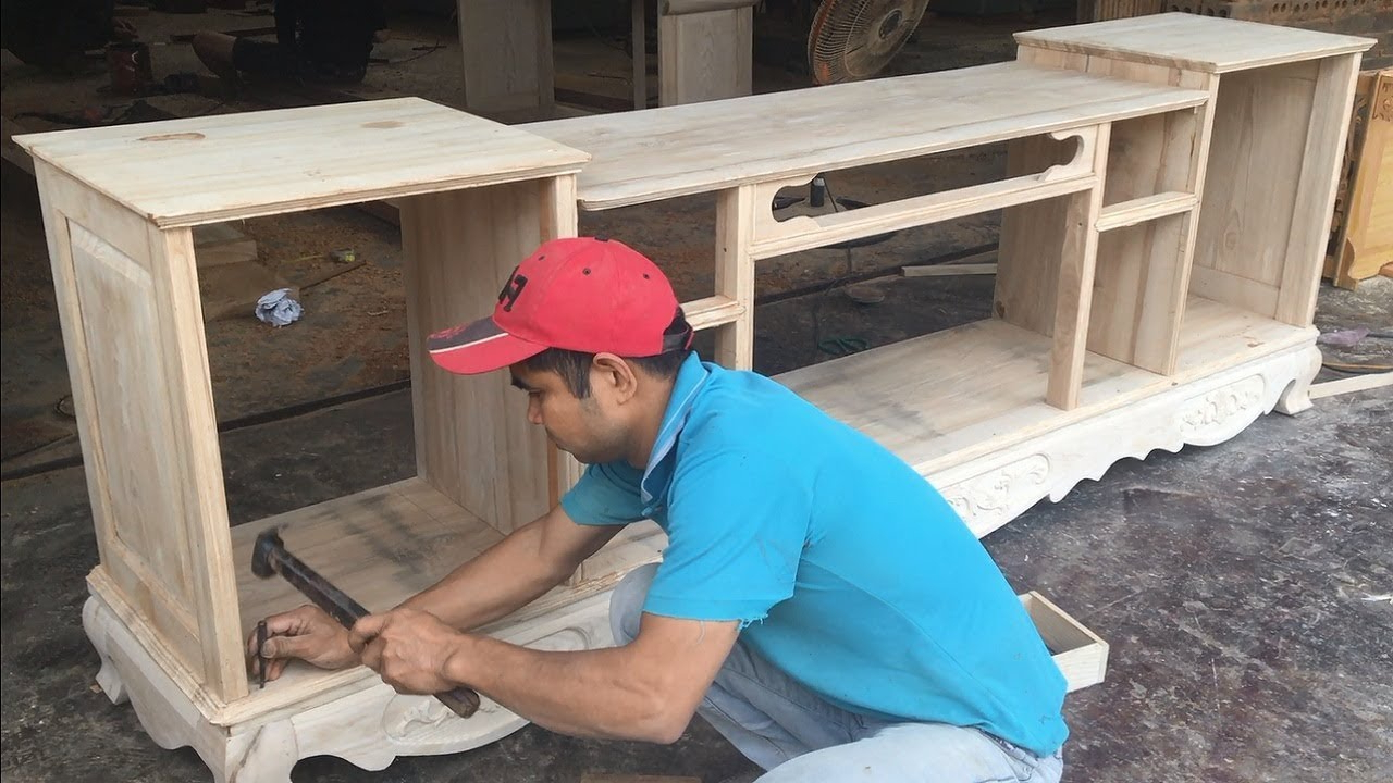 Asian Tv Cabinets With Regard To Recent Amazing Woodworking Skills You Have Never Seen – How To Build A Tv (Gallery 20 of 20)