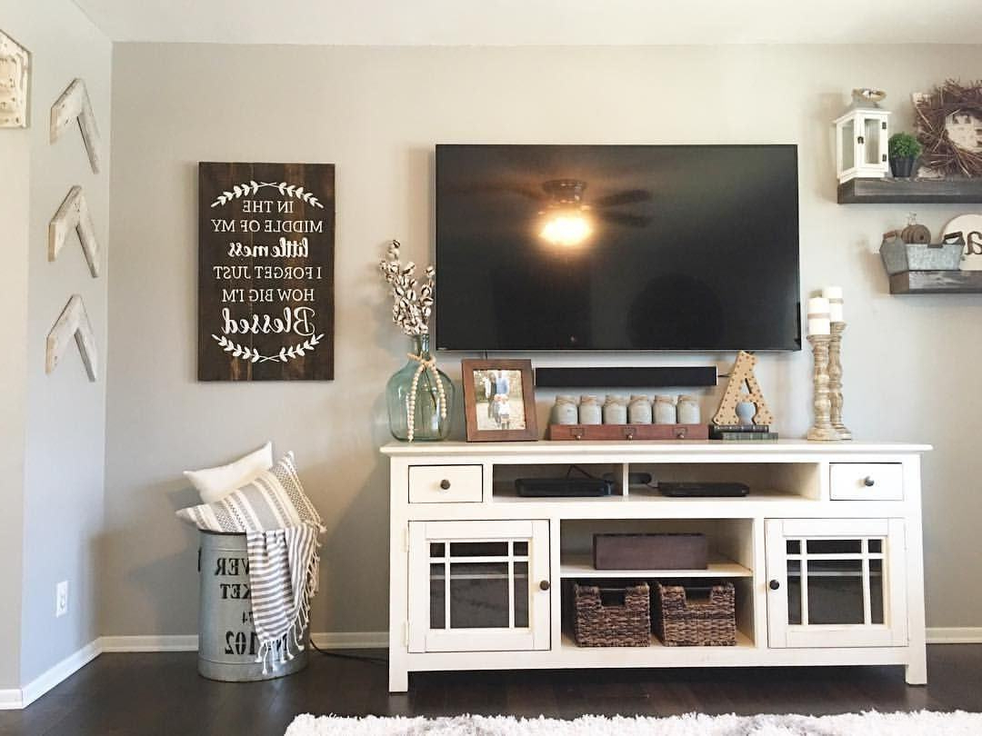 Attractive Athenis Tv Stand – Farmhouse Touches Farmhouse Style Tv With Newest Ovid White Tv Stand (View 4 of 20)