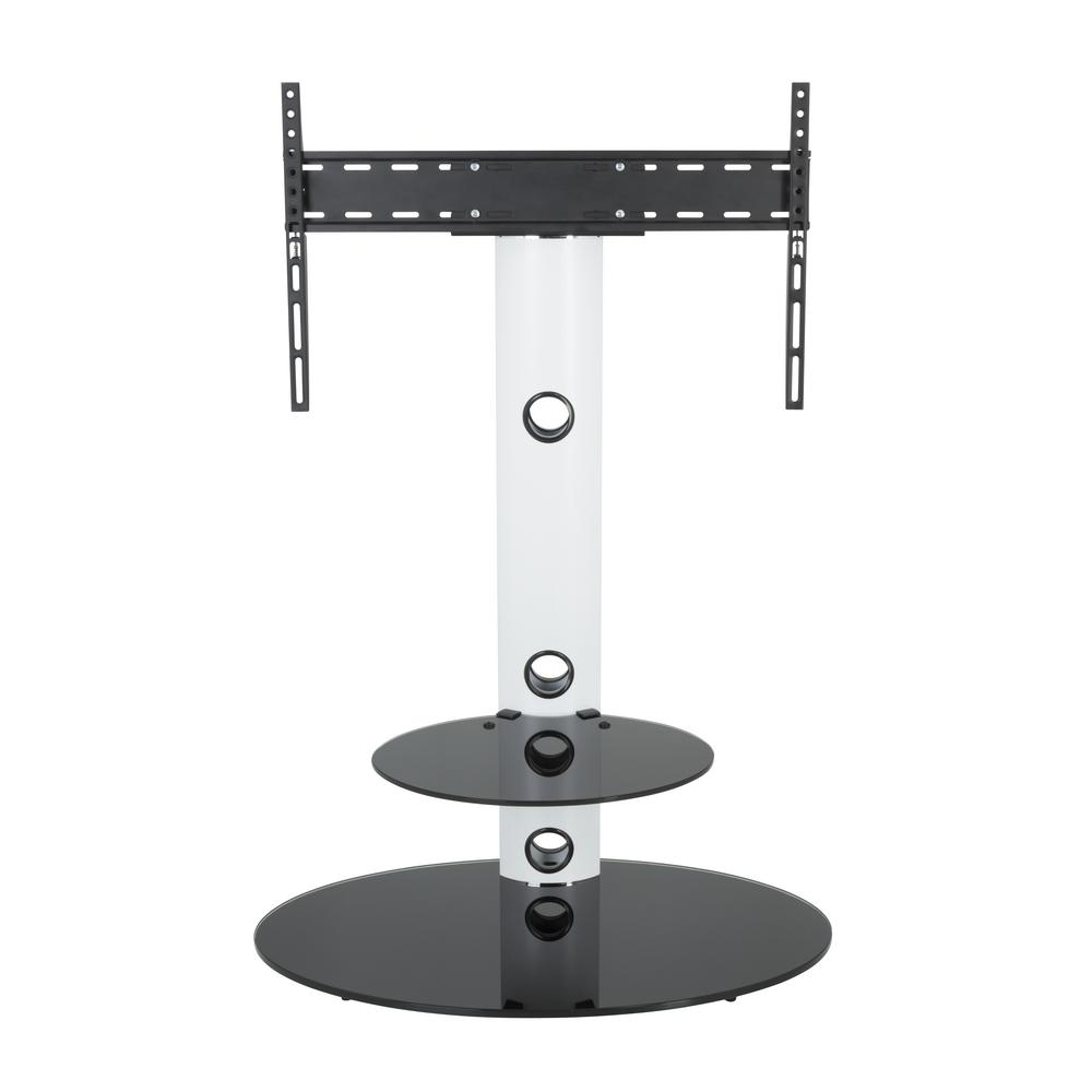 Avf Lugano Satin White Oval Pedestal Tv Stand Fsl800Lusw A – The In Current White Oval Tv Stands (View 1 of 20)