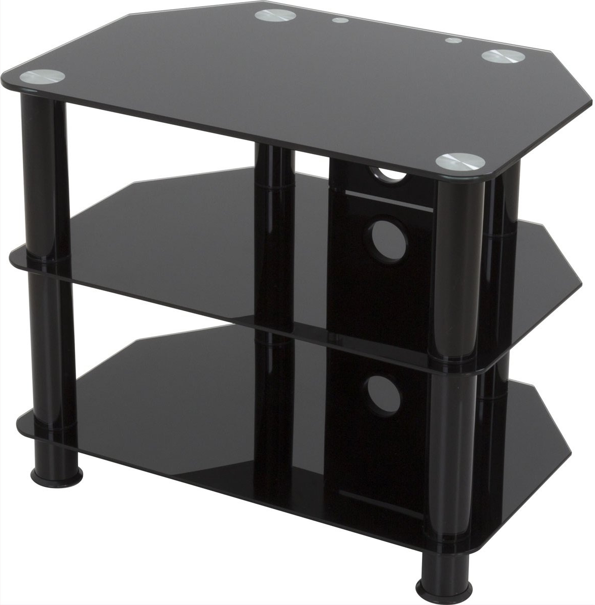 Avf Sdc600Cmbb Tv Stands Within Latest Black Glass Tv Stands (View 3 of 20)
