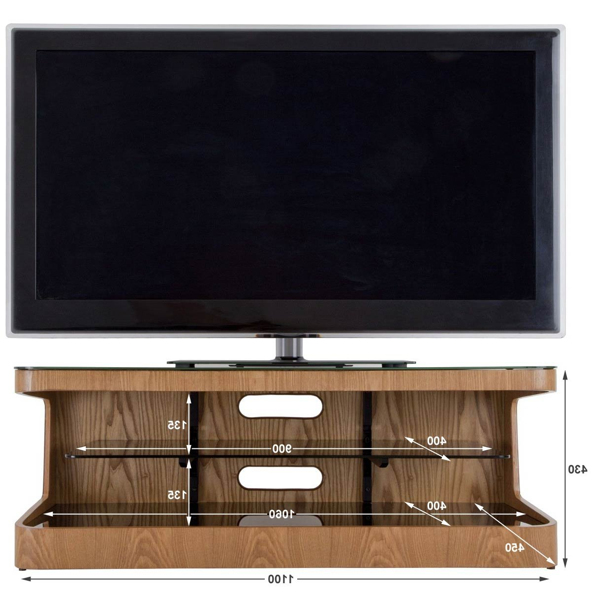 Avf Winchester Oak Tv Stand For Up To 55 Inch: Amazon.co (View 4 of 20)