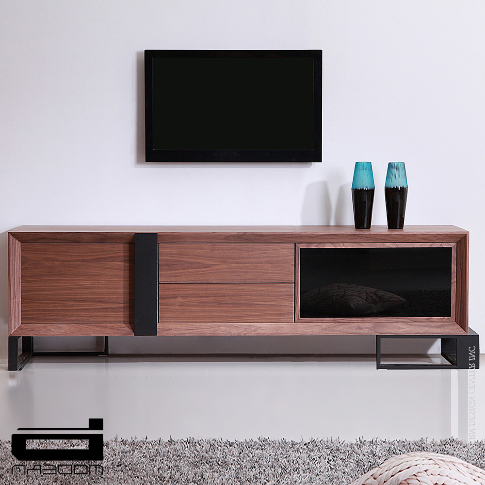 B Modern Entertainer, Walnut & Tv Stands (View 3 of 20)