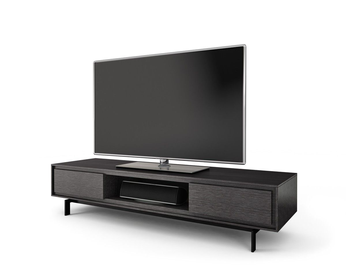 Bdi Signal 8323 Graphite Low Profile Tv Stand And Media Cabinet With Inside Favorite Low Tv Stands And Cabinets (View 1 of 20)