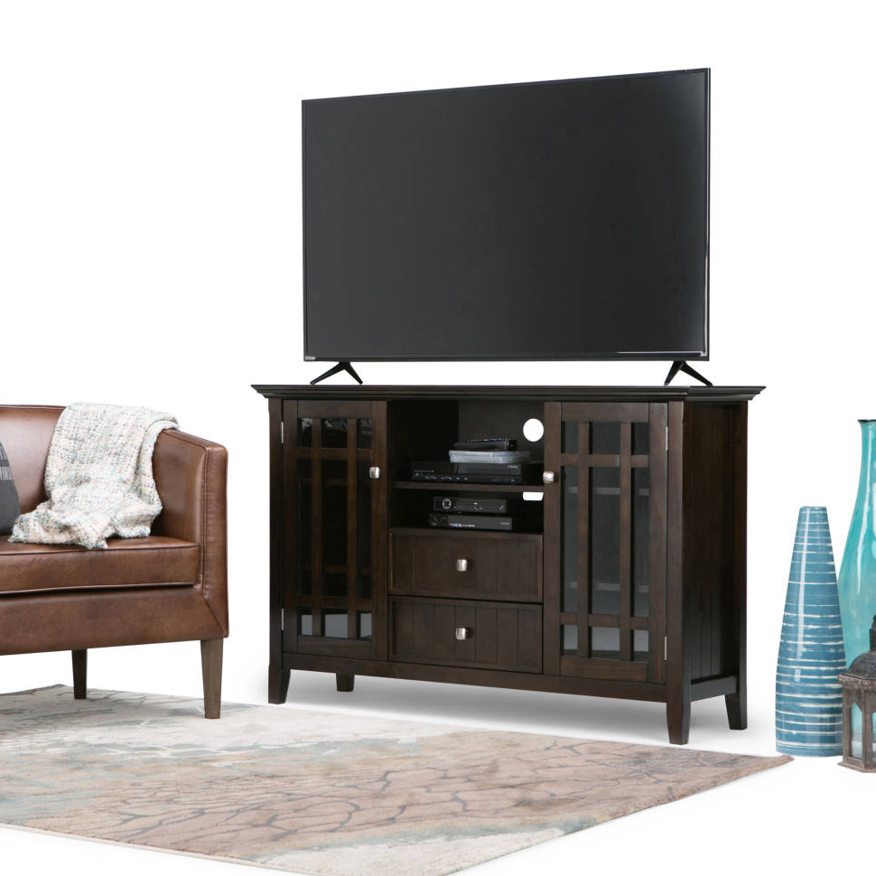 "Bedford Tv Stands In Famous Simpli Home Bedford Tv Stand For Tvs Up To 50"" & Reviews (View 1 of 20)"