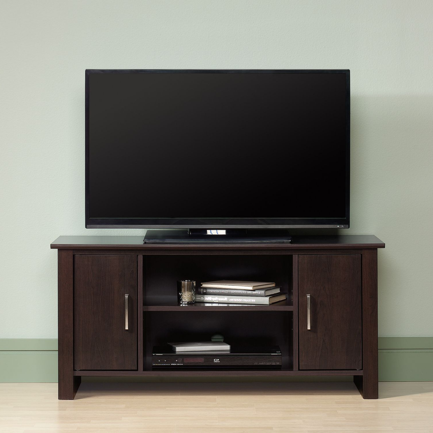 Bedford Tv Stands Inside Most Up To Date Sauder® Tv Stand, Cinnamon Cherry Finish,  (View 2 of 20)