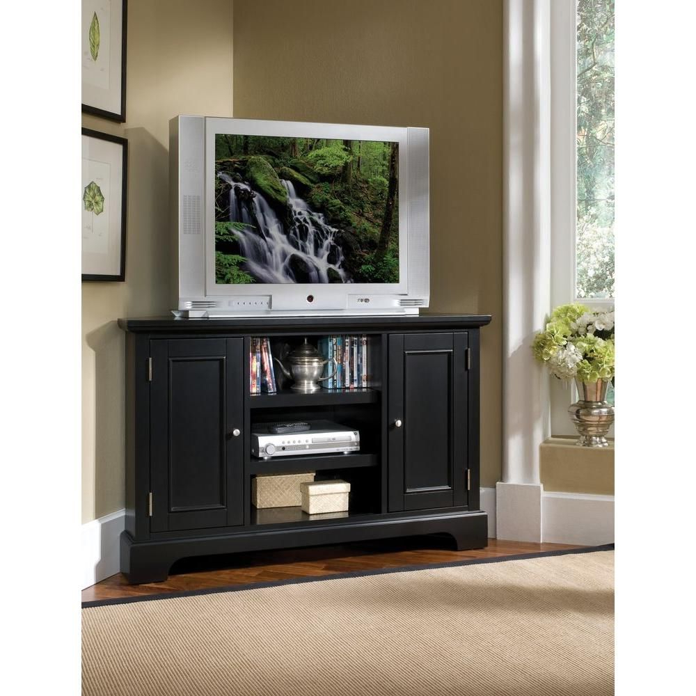 Bedford Tv Stands Intended For Current Home Styles Bedford Black Corner Tv Stand 5531 07 – The Home Depot (View 5 of 20)