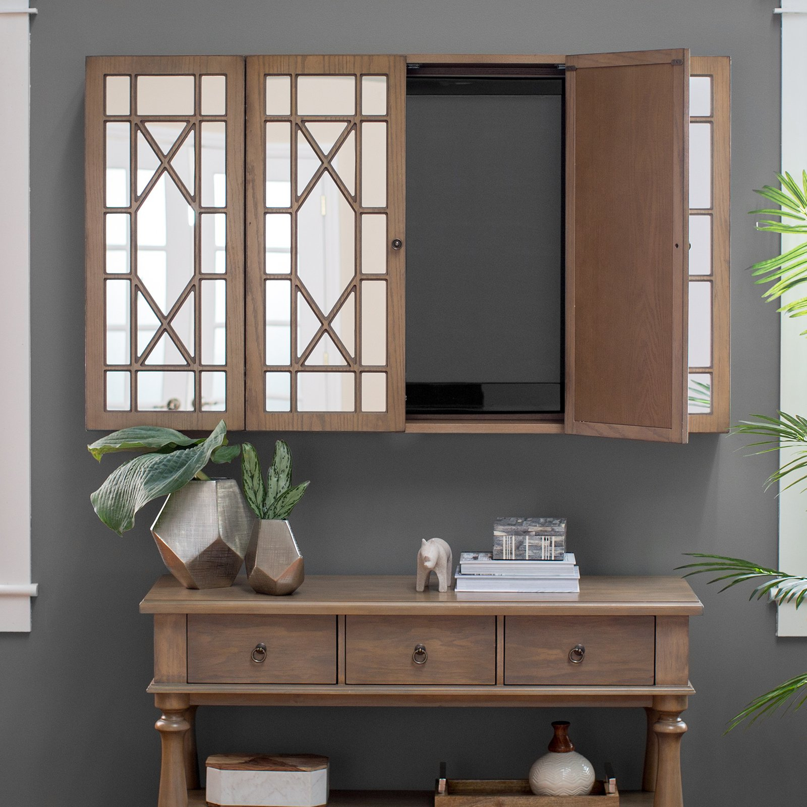 Belham Living Florence Tv Wall Cabinet – Walmart Pertaining To Widely Used Tv Wall Cabinets (Gallery 6 of 20)
