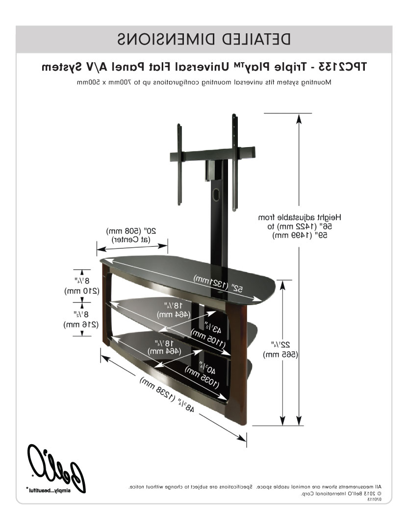 Bell'o International Corporation – Tpc2133 With Regard To Most Recent Bell O Triple Play Tv Stands (View 8 of 20)
