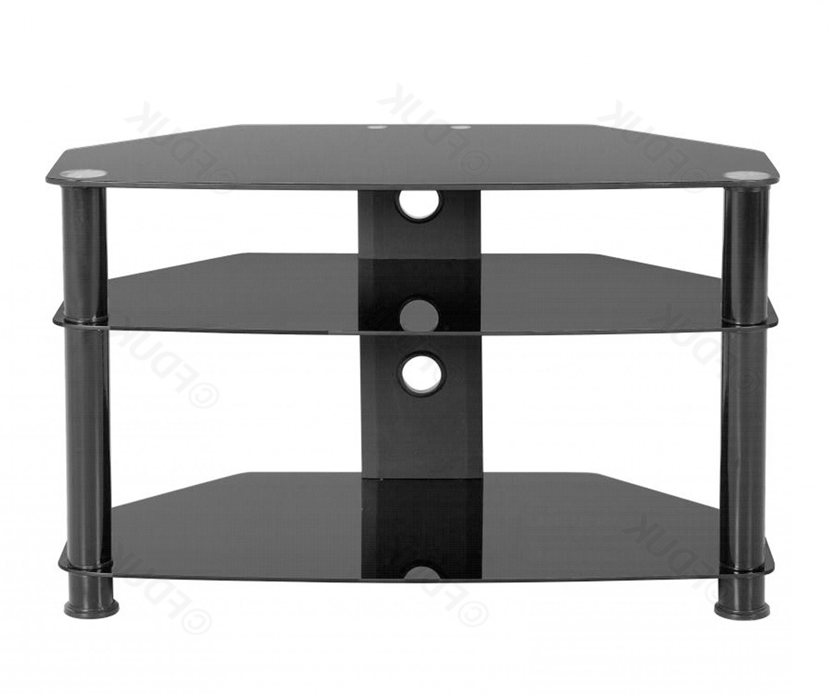 Berlin Black Glass Tv Stand (View 4 of 20)