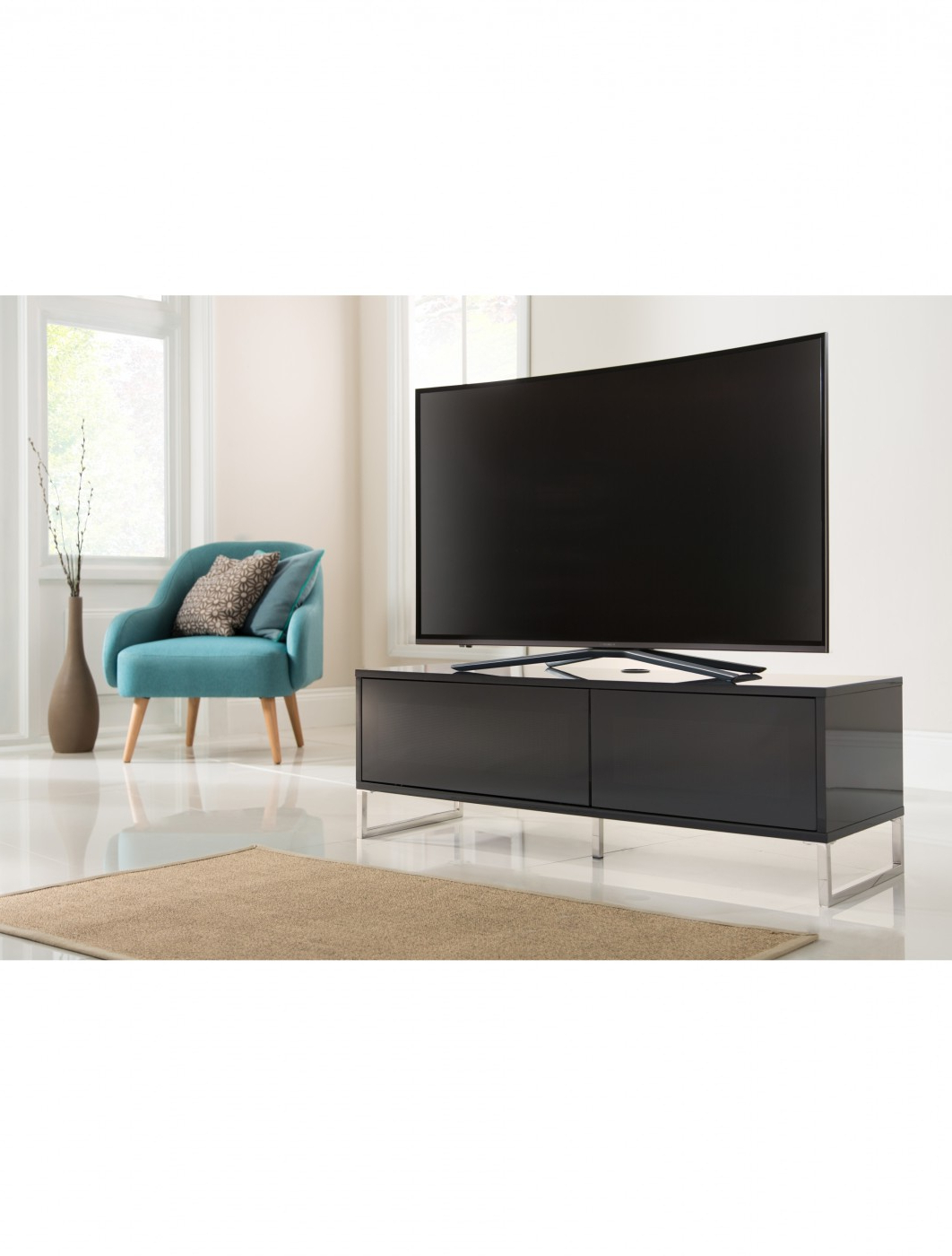 Best And Newest Alphason Tv Cabinets Within Tv Stands – Alphason Helium 1200Mm Tv Stand Adhe1200 Blk (View 12 of 20)
