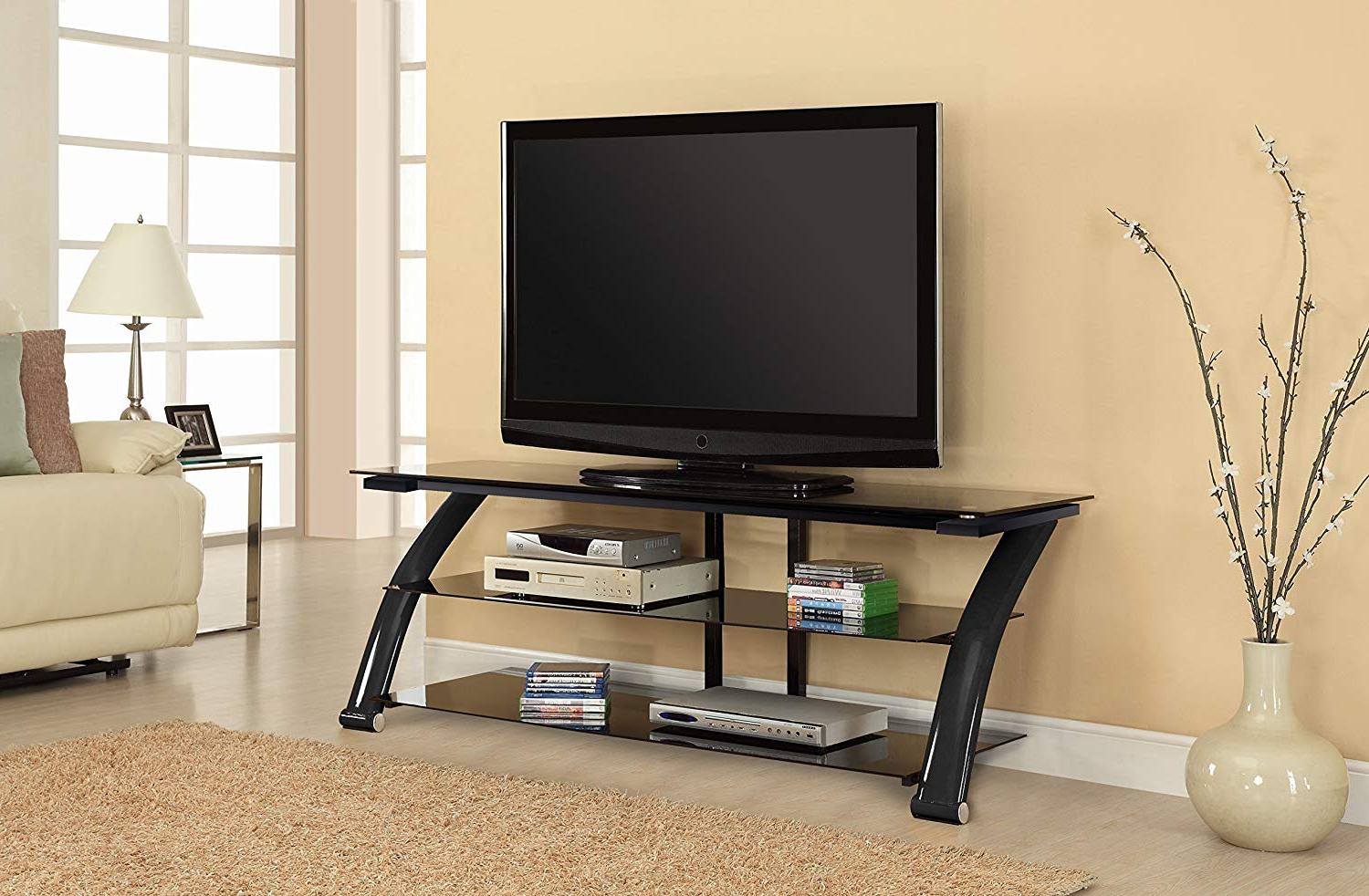 "Best And Newest Amazon: Fold 'n' Snap Nexus Ez Fold 'n' Snap 65"" Tv Stand, Black For Oxford 70 Inch Tv Stands (Gallery 10 of 20)"