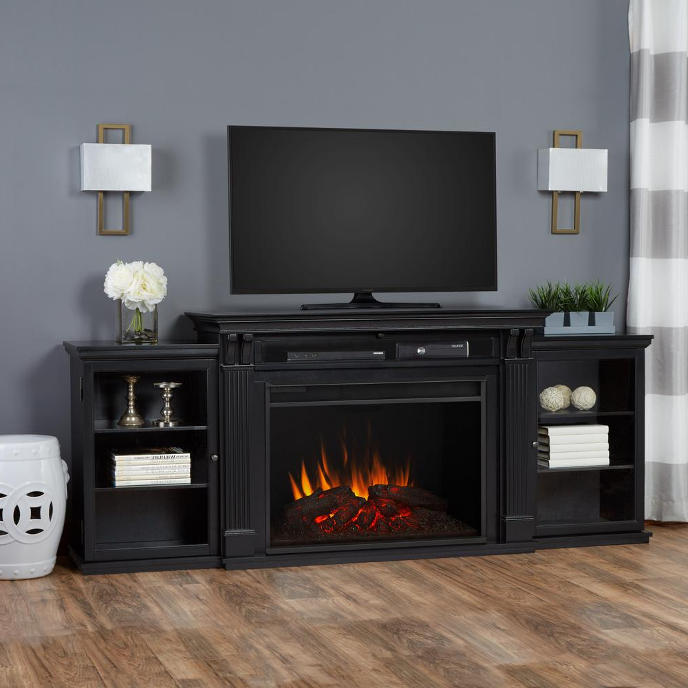 Best And Newest Black Electric Fireplace Tv Stand Incredible Real Flame Tracey Grand Regarding 84 Inch Tv Stands (View 14 of 20)