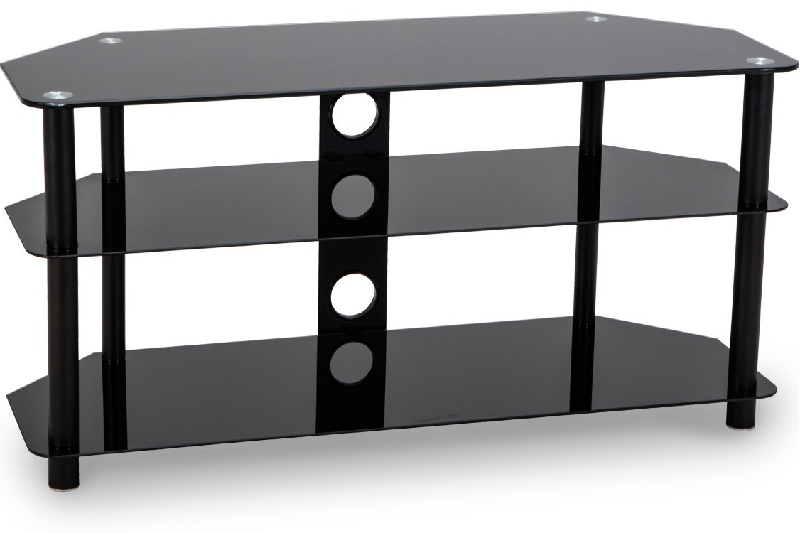 Best And Newest Black Glass Tv Stands In Stealth Mounts Sm 05 Tv Stands (View 5 of 20)