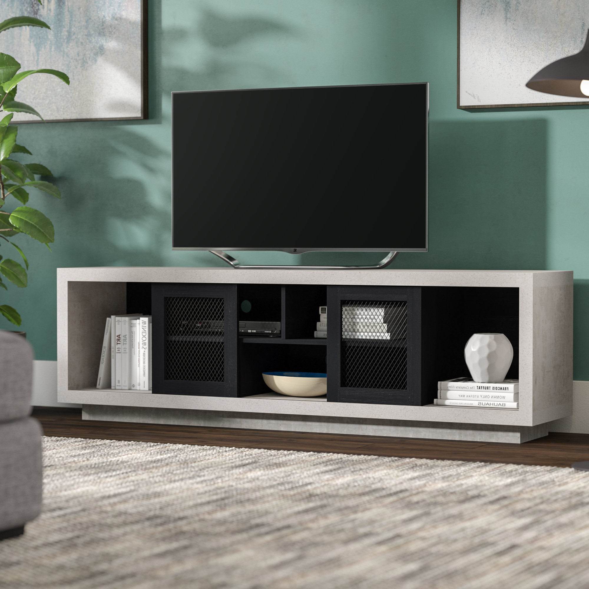 Best And Newest Brayden Studio Cioffi Industrial Tv Stand For Tvs Up To 70 For Industrial Tv Stands (View 2 of 20)