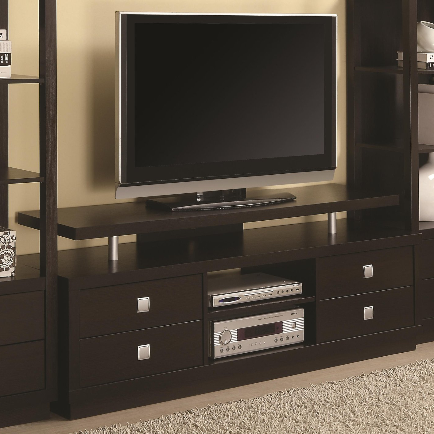 Best And Newest Brown Wood Tv Stand – Steal A Sofa Furniture Outlet Los Angeles Ca For Wood Tv Armoire Stands (View 11 of 20)