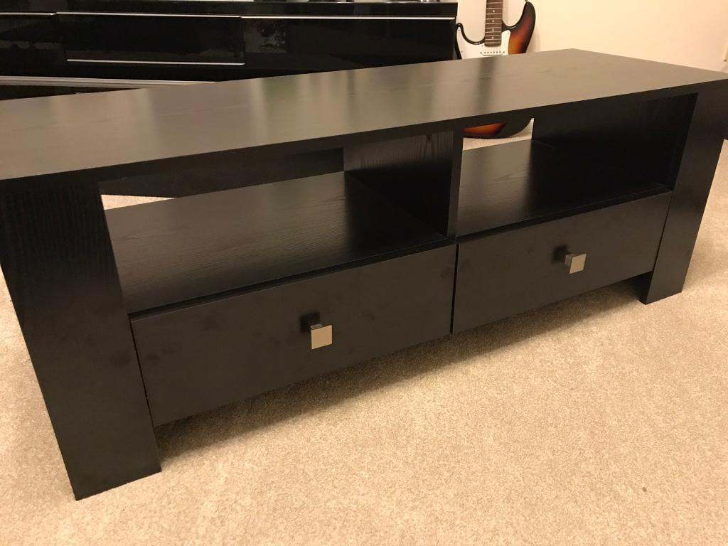 Best And Newest Dark Wood Tv Stands For Argos Black Wood Tv Stand / Living Room Drawers (View 4 of 20)