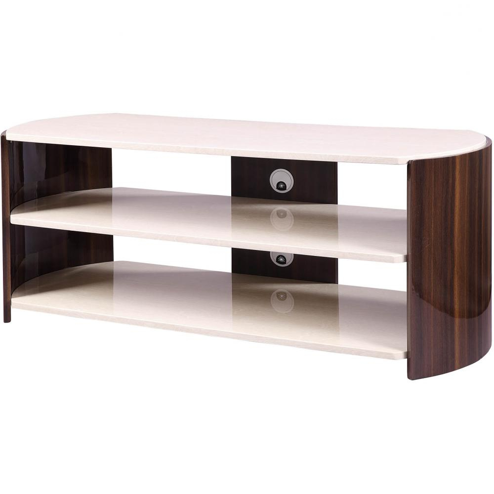 Best And Newest Jual Jf901 Lcd / Led Tv Stand Walnut High Gloss 1200mm Pertaining To Cream Gloss Tv Stands (View 6 of 20)