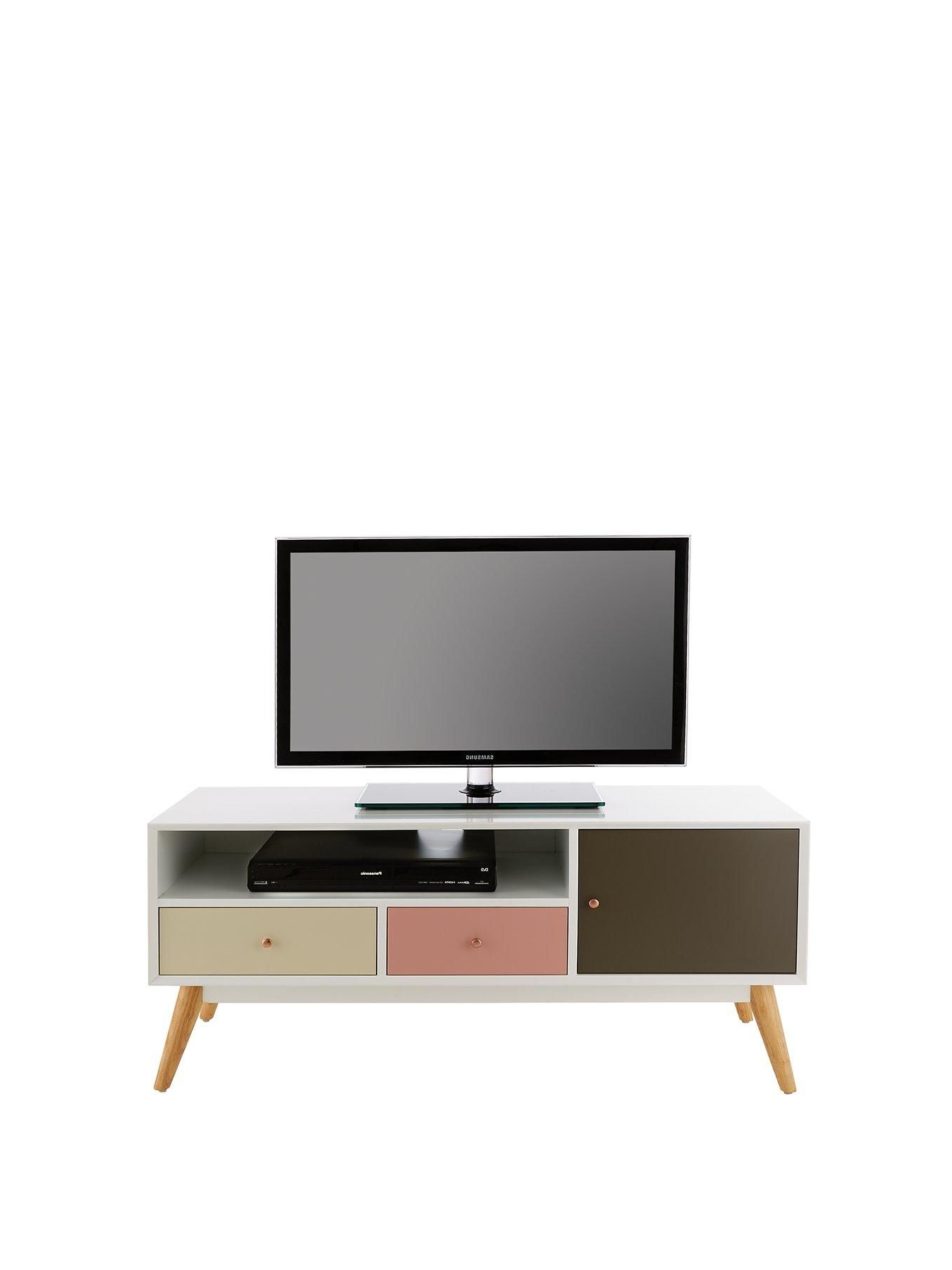 Best And Newest Maddy 50 Inch Tv Stands Intended For Ideal Home Orla Blush Tv Unit – Fits Up To 50 Inch Tv (View 3 of 20)
