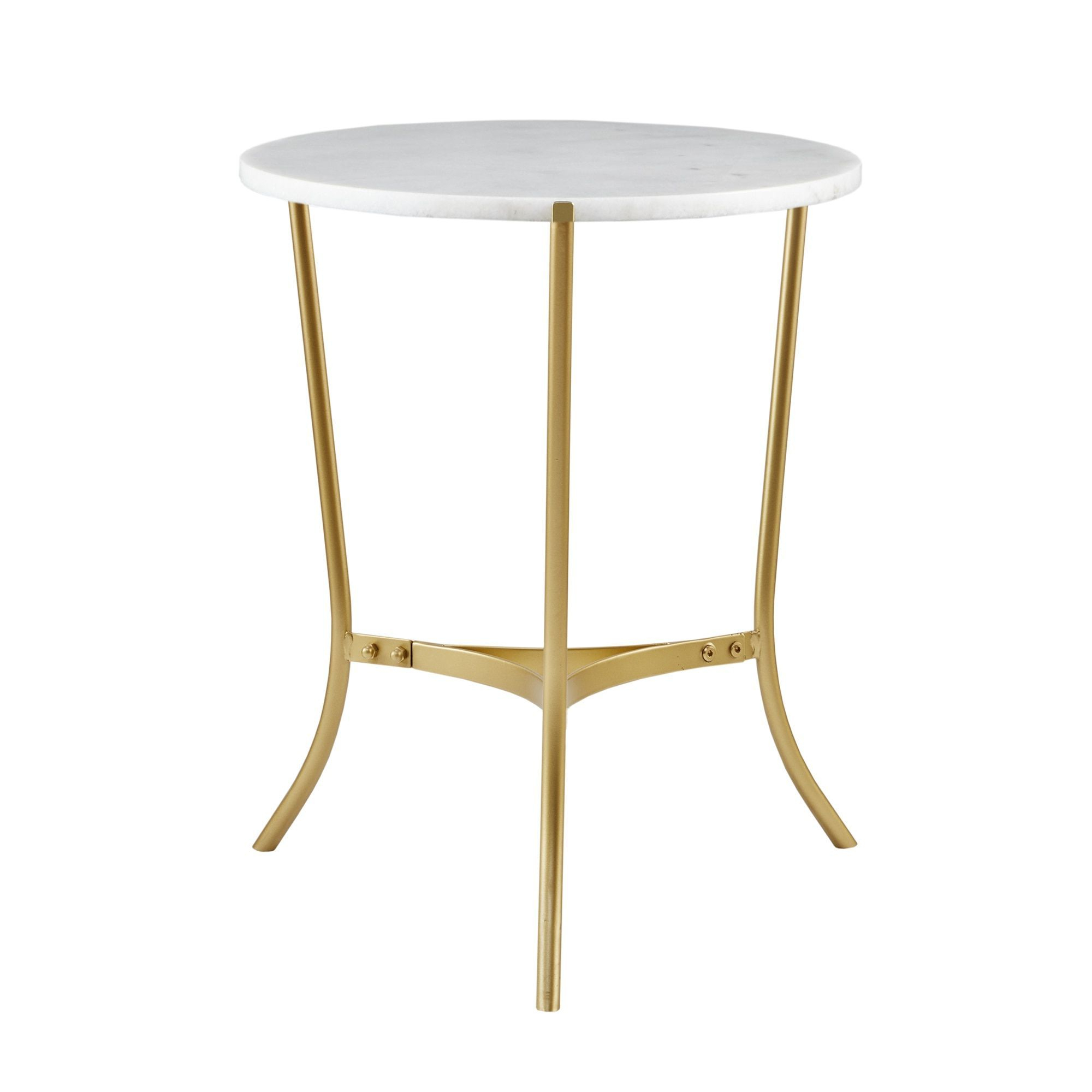 Best And Newest Madison Park Signature Marie Gold Marble 22 Inch Console Table With Regard To Elke Marble Console Tables With Brass Base (Gallery 19 of 20)